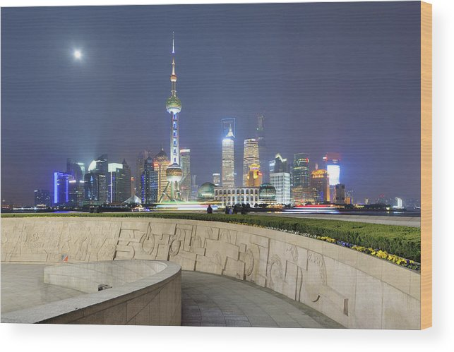 Tranquility Wood Print featuring the photograph Future City by Wei Fang