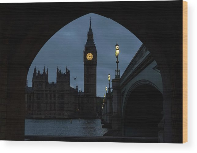 Time Wood Print featuring the photograph General Election 2015 Week Six by Rob Stothard