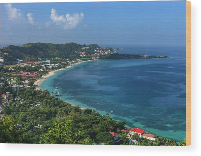 Scenics Wood Print featuring the photograph Grand Anse Bay, Grenada by Flavio Vallenari