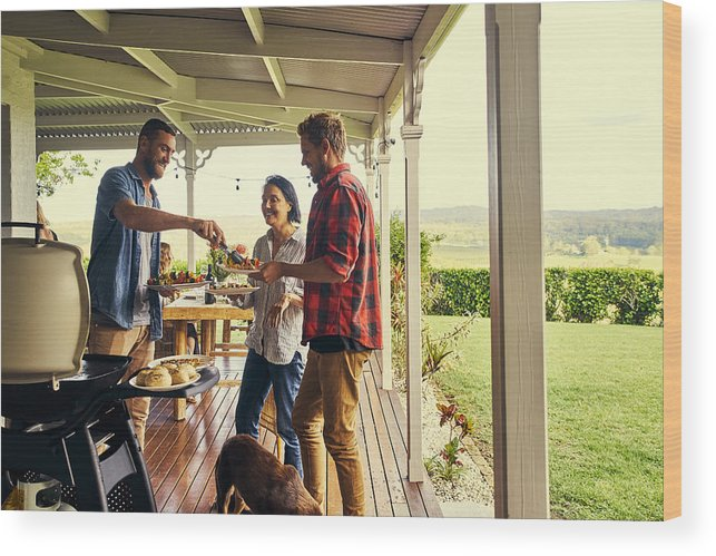 People Wood Print featuring the photograph He sure knows how to host a lunch by Pixdeluxe