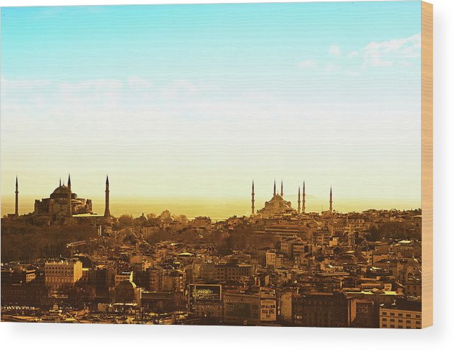 Tranquility Wood Print featuring the photograph Istanbul by Dhmig Photography