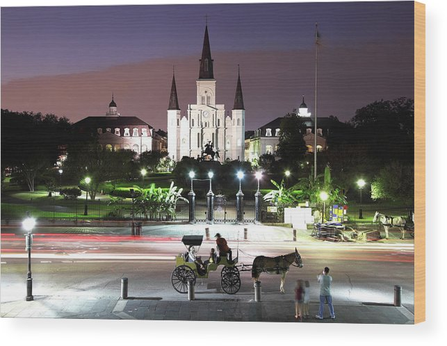 Southern Usa Wood Print featuring the photograph Jackson Square by Denistangneyjr