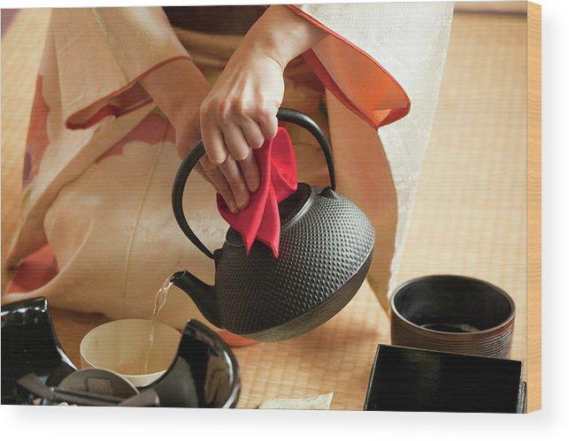 Tatami Mat Wood Print featuring the photograph Japanese Tea Ceremony by Lucidio Studio Inc