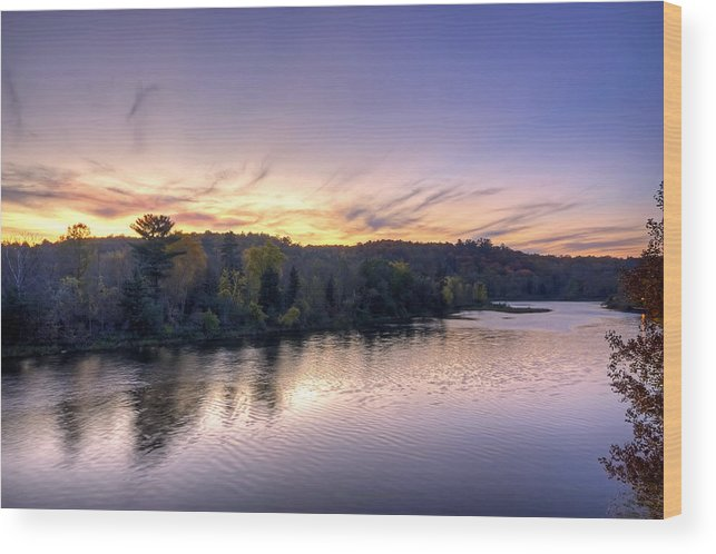 Water Wood Print featuring the photograph Just Past Dusk by Bryan Benson