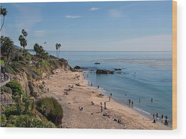 Tranquility Wood Print featuring the photograph Laguna Beach Cove by Mitch Diamond