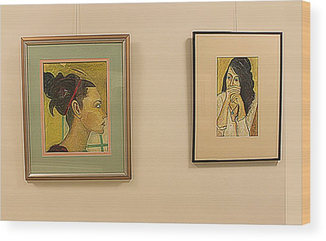 Portraits Wood Print featuring the painting Lahey Clinic Portraits 2 by Noredin Morgan