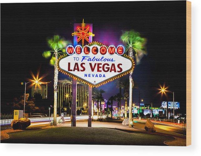 Las Vegas Wood Print featuring the photograph Las Vegas Sign by Az Jackson
