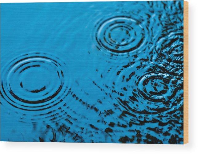 Rain Wood Print featuring the photograph Let It Rain by Debi Bishop