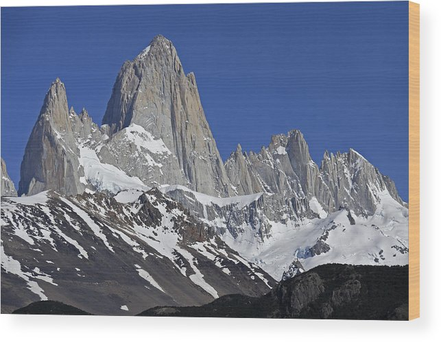 Argentina Wood Print featuring the photograph Lofty Mount Fitz Roy by Michele Burgess