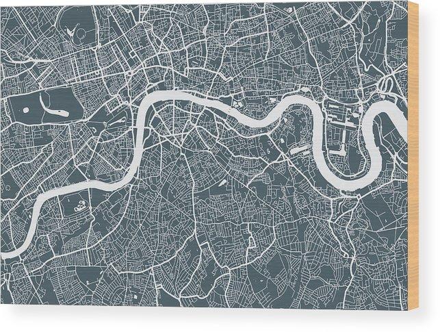 Art Wood Print featuring the digital art London City Map by Mattjeacock