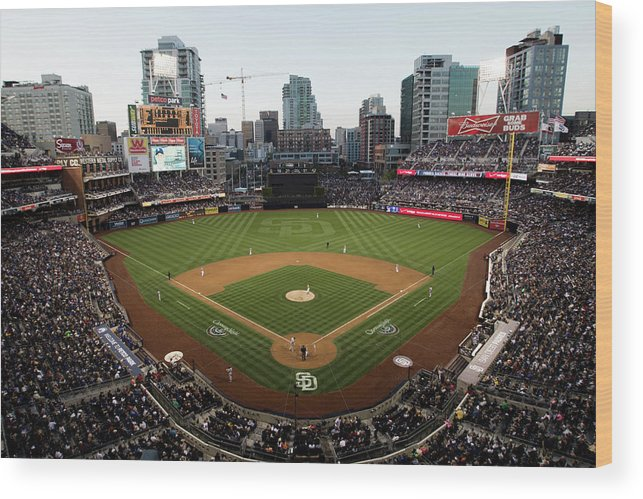 California Wood Print featuring the photograph Los Angeles Dodgers V. San Diego Padres by Rob Leiter