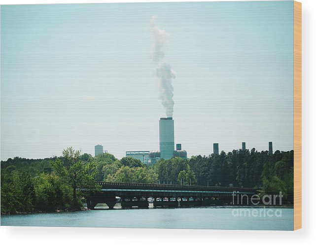 Marshall Steam Station Wood Print featuring the photograph Marshall Steam Station by Kim Fearheiley