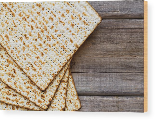 Celebration Wood Print featuring the photograph Matza Background by Vlad Fishman