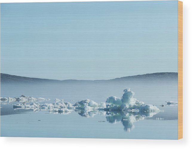 Scenics Wood Print featuring the photograph Melting Sea Ice, Hudson Bay, Canada by Paul Souders