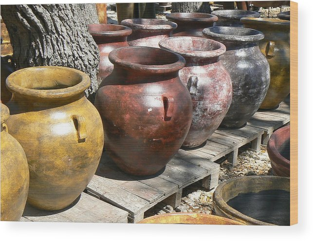 Pots Wood Print featuring the photograph Mexican Pots V by Scott Alcorn
