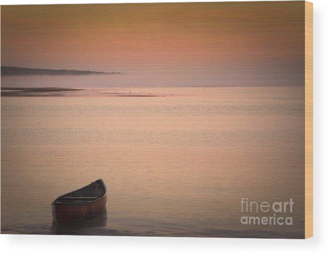 Sunrise Wood Print featuring the photograph Morning Sea Smoke by Brenda Giasson