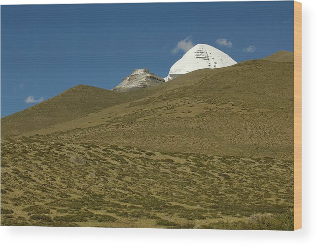 Chinese Culture Wood Print featuring the photograph Mount Kailash by Tanukiphoto