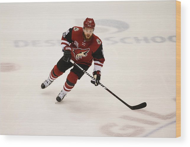 National Hockey League Wood Print featuring the photograph NHL: MAR 31 Capitals at Coyotes by Icon Sportswire