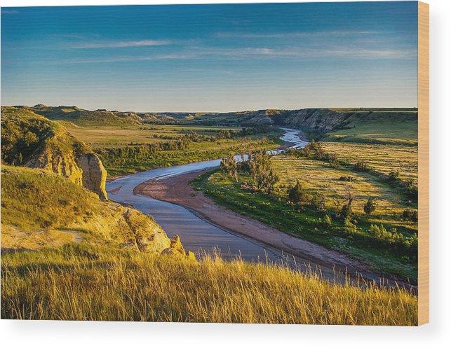 Badlands Wood Print featuring the photograph North Dakota Badlands by Rruntsch