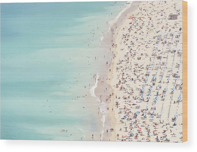 Water's Edge Wood Print featuring the photograph Ondarreta Beach, San Sebastian, Spain by John Harper