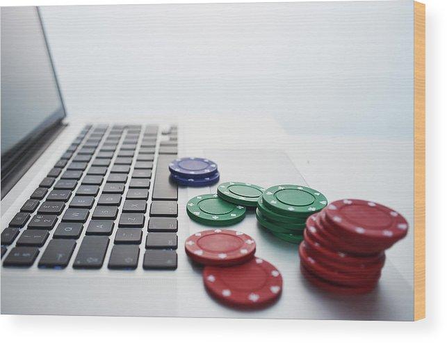 Internet Wood Print featuring the photograph Online Gambling by John Lamb