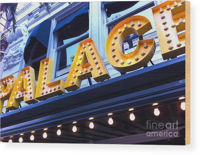 Palace Cafe Wood Print featuring the photograph Palace Cafe by Kim Fearheiley