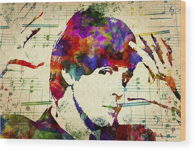 Paul Mccartney Wood Print featuring the digital art Paul McCartney by Aged Pixel