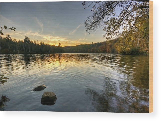 Water Wood Print featuring the photograph Peaceful Evening by Bryan Benson