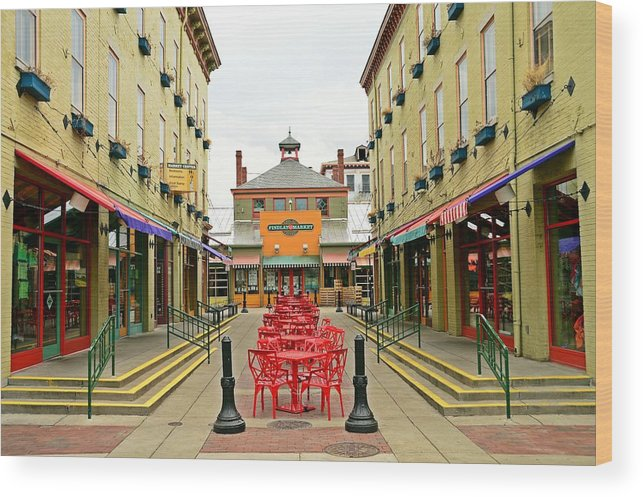 Cincinnati Wood Print featuring the photograph Quiet Day at Findlay Market by David Earl Johnson