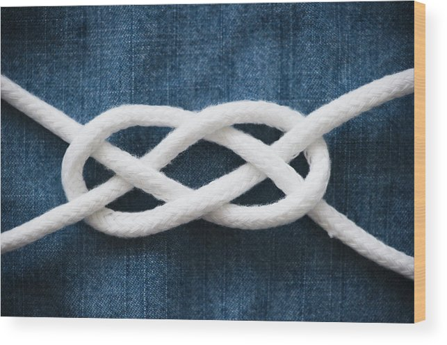 Security Wood Print featuring the photograph Reef Knot by Jamie Grill