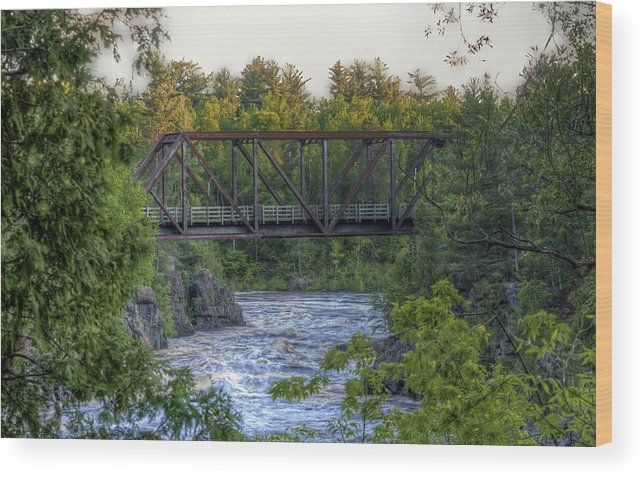 Water Wood Print featuring the photograph River Crossing by Bryan Benson