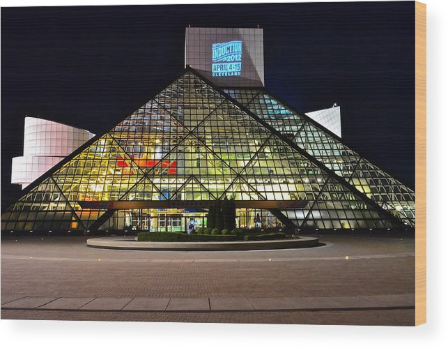 Rock And Roll Wood Print featuring the photograph Rock n Roll hall of Fame Induction by Frozen in Time Fine Art Photography