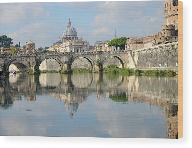 Arch Wood Print featuring the photograph Rome by Madzia71