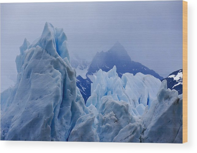 Argentina Wood Print featuring the photograph Sculpture in Blue by Michele Burgess