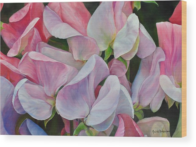 Acrylic Wood Print featuring the painting Senteur en couleur by Muriel Dolemieux