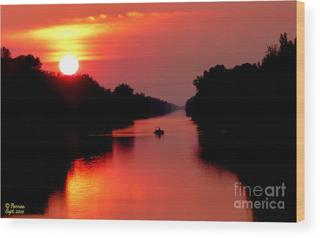 Landscape Wood Print featuring the photograph September Sunset by Rennae Christman