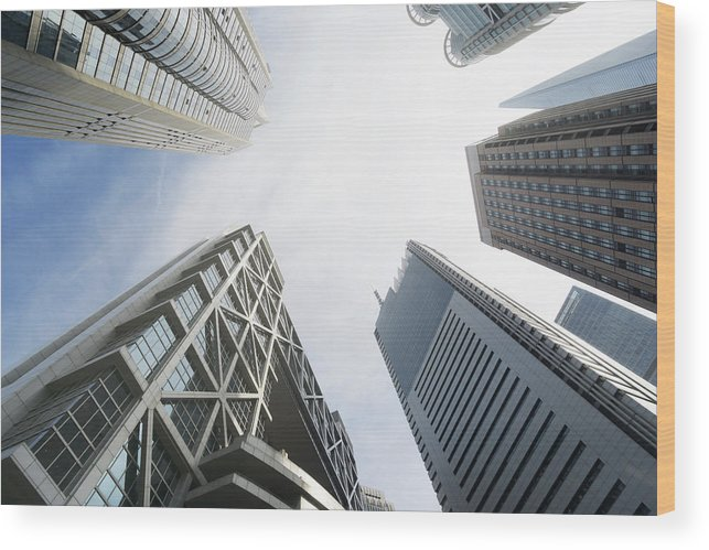 Downtown District Wood Print featuring the photograph Shanghai Stock Exchange,china - East by Zyxeos30