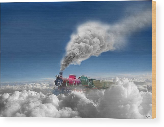 Clouds Wood Print featuring the photograph Sky Express by Igor Zenin