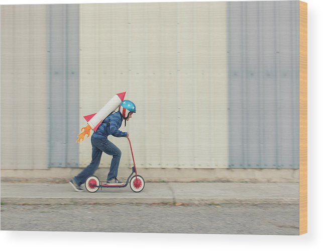 Taking Off Wood Print featuring the photograph Speed by Richvintage