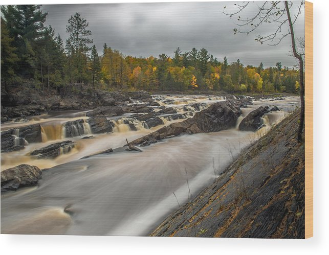 Jay Cooke State Park Wood Print featuring the photograph St Louis River by Paul Freidlund