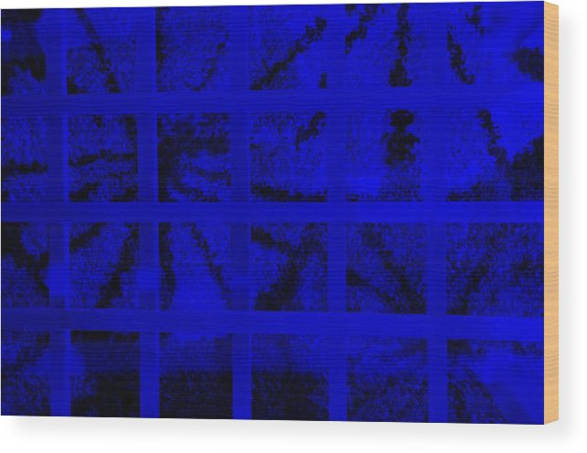 Poster Wood Print featuring the photograph Starbox Neg Blue by Rob Hans
