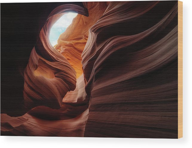 Arizona Wood Print featuring the photograph Stone-girl by Juan Pablo De