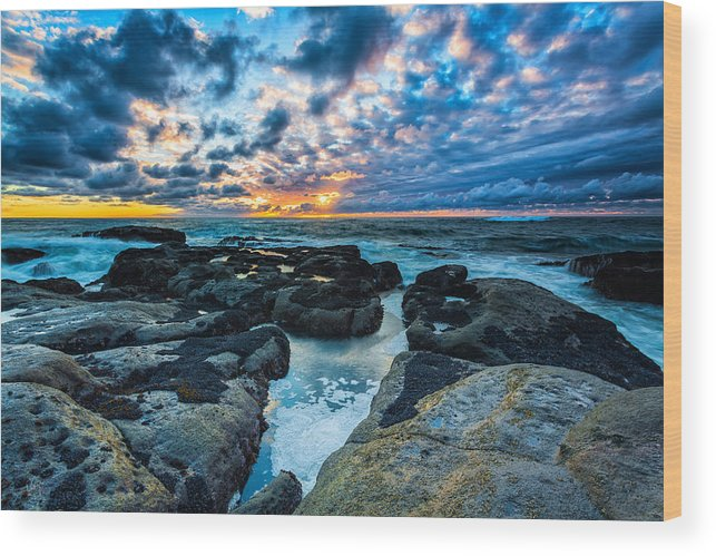 Seascape Wood Print featuring the photograph Storm Arrival by Robert Bynum