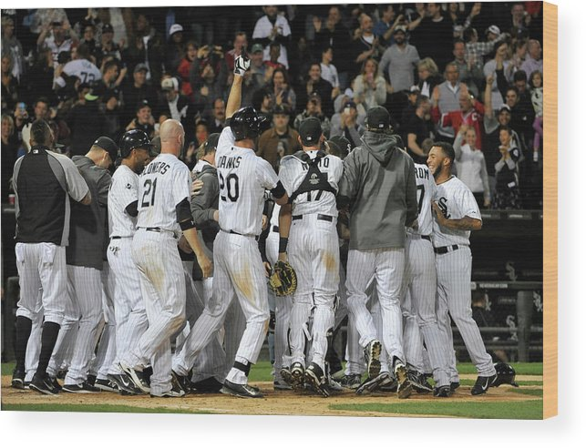 Ninth Inning Wood Print featuring the photograph Tampa Bay Rays V Chicago White Sox by David Banks