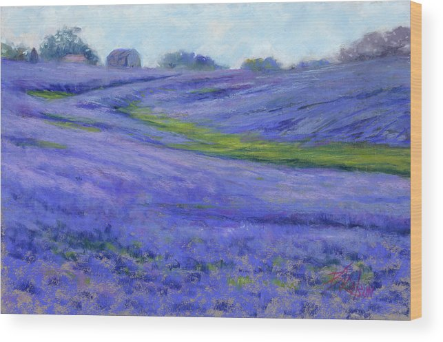 Texas Wood Print featuring the painting Texas Blue by Billie Colson