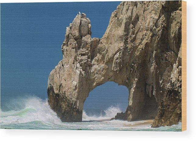 Scenics Wood Print featuring the photograph The Arch Of Los Cabos San Lucas by Marc Javelly