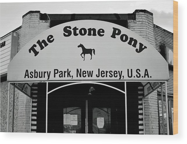 The Boss Stone Pony Asbury Park Wood Print featuring the photograph The Boss Stone Pony Asbury Park by Terry DeLuco