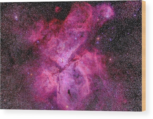Southern Hemisphere Wood Print featuring the photograph The Carina Nebula In The Southern Sky by Alan Dyer/stocktrek Images