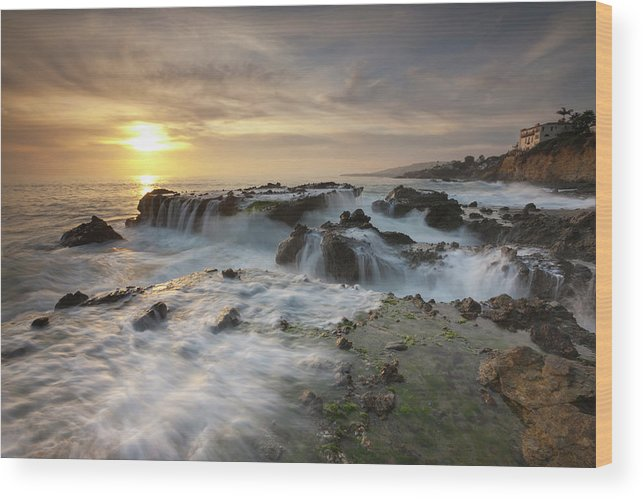 Scenics Wood Print featuring the photograph The Cauldron - Victoria Beach by Images By Steve Skinner Photography