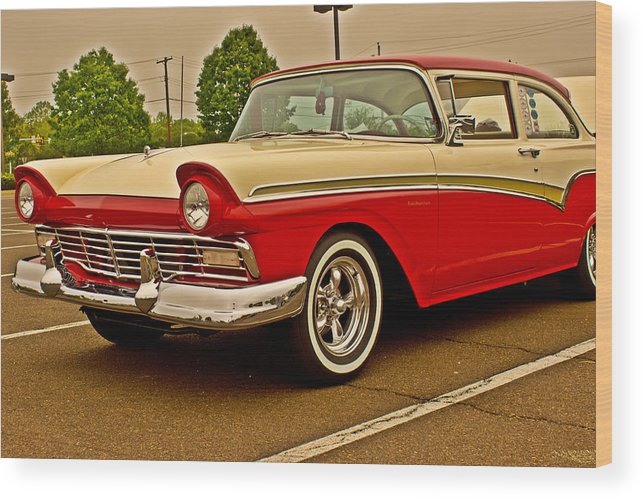Automobile Wood Print featuring the photograph The Fifties by Tom Gari Gallery-Three-Photography